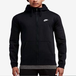 ✅ Nike Men's Fleece Zip Hoodie 804389-010 NWT